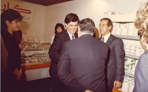 Prime Minister Wazzan Visiting Karoun Cheese Stand